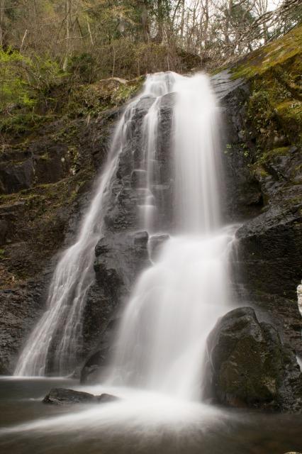 シャッタースピードを遅くして滝を撮る