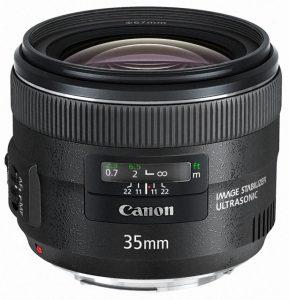35mmの単焦点レンズ