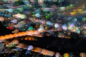 露出間フォーカスで夜景を撮影