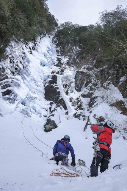 超広角レンズで氷瀑を撮影する