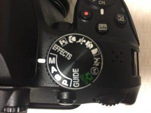 一眼レフカメラのマニュアルモード