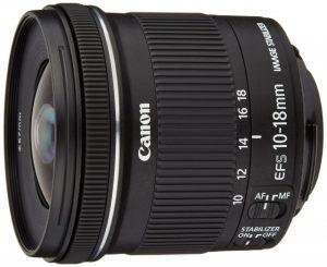 EF-S10-18mm F4.5-5.6 IS STMの横からの写真