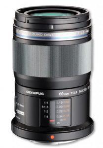 M.ZUIKO ED 60mm F2.8 Macroの側面写真