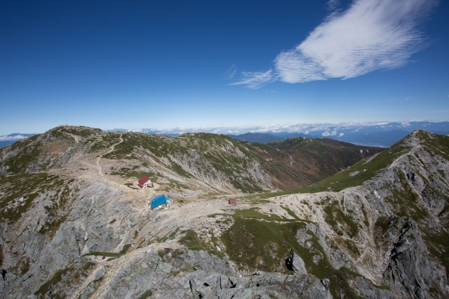 超広角レンズで登山をした写真