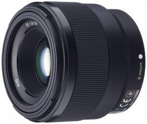 FE 50mm F1.8の側面写真