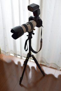 フル装備のカメラ