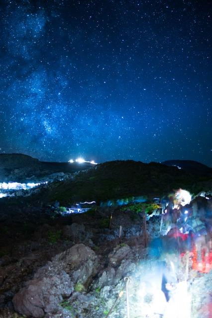 星空撮影の例